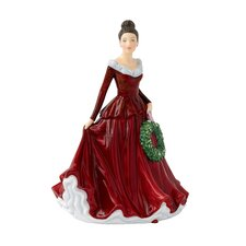 Mistletoe and Wine Figurine
