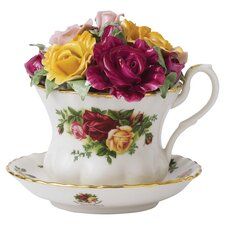 "Old Country Roses 4"" Musical Teacup"
