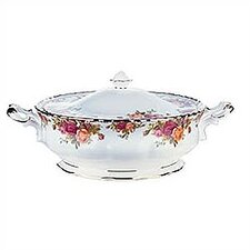 Old Country Roses 50 oz. Covered Vegetable Dish