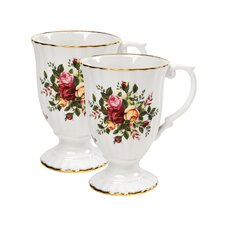 Old Country Roses Fluted Mugs (Set of 2)