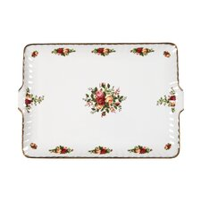 "<strong>Royal Albert</strong> Old Country Roses Fluted 10"" Rectangular Serving Tray"
