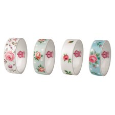 Old Country Roses Napkin Rings (Set of 4)