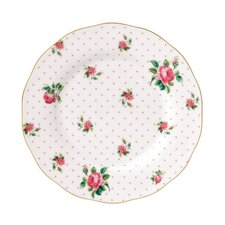 "New Country Roses Cheeky Pink Vintage 8"" Salad Plate"