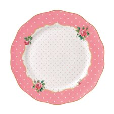 "New Country Roses Cheeky Pink Vintage 10.9"" Dinner Plate"