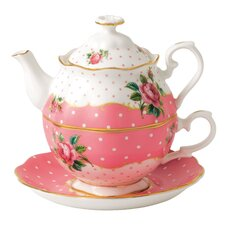 New Country Roses Vintage Tea for One Cup and Saucer