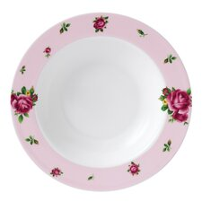 "New Country Roses Casual Rimmed 9.4"" Soup and Salad Bowl"