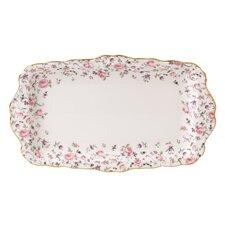 "Rose Confetti Vintage Formal 6.9"" Rectangular Sandwich Tray"