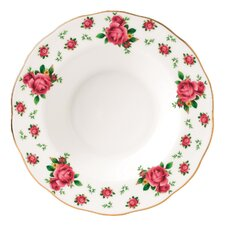 "New Country Roses Formal Vintage Rimmed 11"" Soup and Salad Bowl"