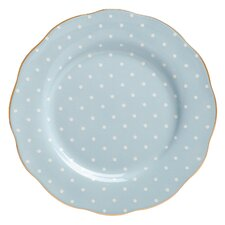 "Polka Blue Formal Vintage 8"" Salad Plate"