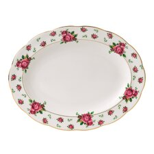 "New Country Roses Formal Vintage 11.6"" Oval Platter"
