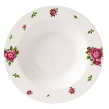 New Country Roses Modern Casual Rimmed Soup and Salad Bowl