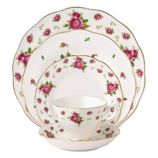 New Country Roses Vintage Formal 5 Piece Place Setting