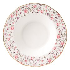 "Rose Confetti Formal Vintage Rimmed 9.3"" Soup and Salad Bowl"