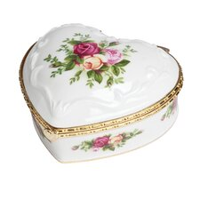 <strong>Royal Albert</strong> Old Country Roses If You Love Me Musical Jewelry Box