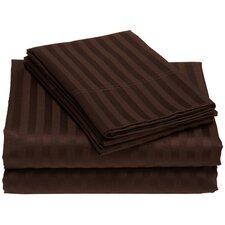 300 Thread Count Wrinkle Resistant Woven Stripe Sheet Set