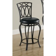 Lefors Faux Leather Barstool in Black