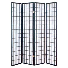 "<strong>Wildon Home ®</strong> 70"" x 69.5"" Shoji 4 Panel Room Divider"