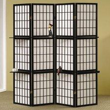 "70.25"" x 59"" Folding 4 Panel Room Divider"
