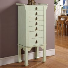 <strong>Wildon Home ®</strong> Ningbo Way 6 Drawer Jewelry Armoire with Mirror