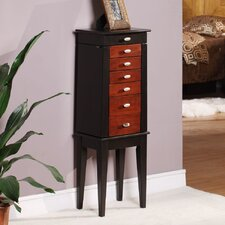 <strong>Wildon Home ®</strong> Southport 6 Drawer Jewelry Armoire with Mirror