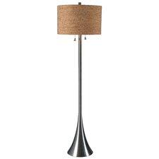Silver Pewter Floor Lamps Wayfair