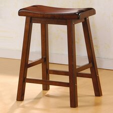 "Aloha 24"" Stool in Dark Walnut"