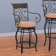 "Belknap Springs 24"" Bar Chair with Arms in Dark Brown"