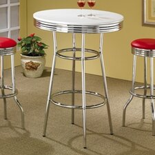 "Red Cliff 29"" Bar Stool with Red Cushion in Chrome"