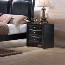 Briana 3 Drawer Nightstand