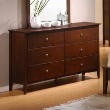 <strong>Wildon Home ®</strong> Stoneham 6 Drawer Dresser