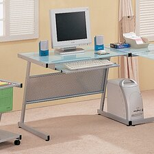 <strong>Wildon Home ®</strong> Reedville Frosted Glass Computer Desk