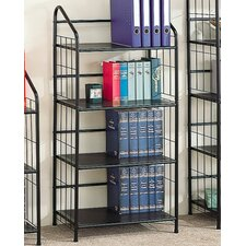 Sheridan Four Tier Bookcase in Black