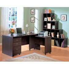 <strong>Wildon Home ®</strong> Redondo Beach L-Shape Desk Office Suite