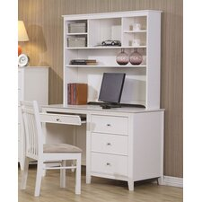 Wildon Home Twin Lakes Computer Desk with Hutch