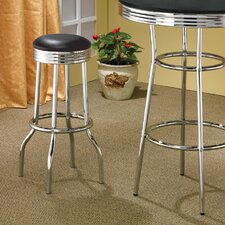 "Ridgeway 29"" Soda Fountain Bar Stool in Chrome"