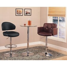 Colorado City 3 Piece Pub Table Set with Glass Top
