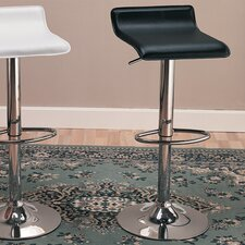 "Colorado City 29"" Barstool with Footrest in Black"