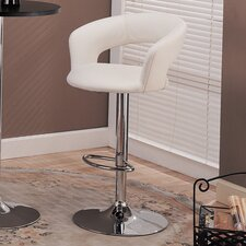 "Colorado City 29"" Barstool with Footrest in White"