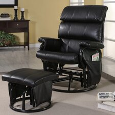 <strong>Wildon Home ®</strong> Williams Leatherette Recliner and Ottoman
