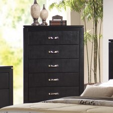 <strong>Wildon Home ®</strong> Kearny 5 Drawer Faux Leather Chest