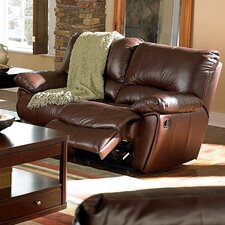 Bluff Leather Reclining Loveseat