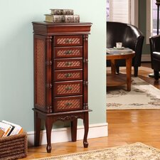 Mandalay Classic Six Drawer Jewelry Armoire in Dark Brown