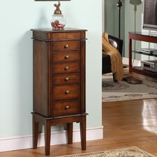 Elanor Six Drawer Jewelry Armoire in Coffee