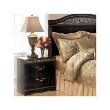 Park Nightstand in Deep Glossy Black