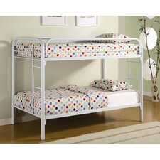 Fields Twin over Twin Bunk Bed with Built-In Ladder