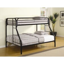 Falls City Twin over Full Bunk Bed with Built-In Ladder