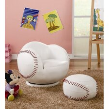 Kid's Baseball Chair and Ottoman