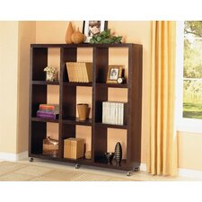 "Sams Valley 69.25"" Bookshelf in Cappuccino"