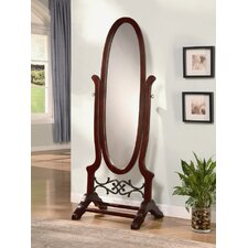 Seatac Cheval Mirror in Walnut