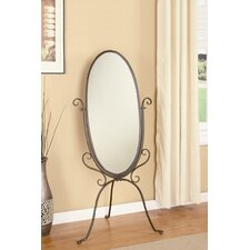 <strong>Wildon Home ®</strong> Caratunk Cheval Mirror in Antique Bronze